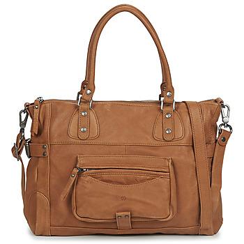 Taschen Damen Handtasche Sabrina CAMILLE Cognac