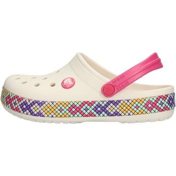 Schuhe Mädchen Pantoletten / Clogs Crocs - Crocband gallery bianco 205171