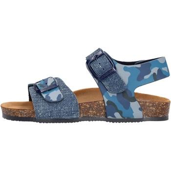 Schuhe Jungen Sandalen / Sandaletten Gold Star - Sandalo da Bambino Blu in Pelle 8805 ST