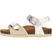 Schuhe Mädchen Sandalen / Sandaletten Gold Star - Sandalo da Bambino Argento in Pelle 1846L