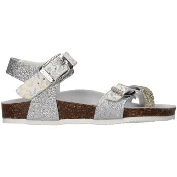 Schuhe Mädchen Sandalen / Sandaletten Gold Star - Sandalo da Bambino Argento in Pelle 8896L