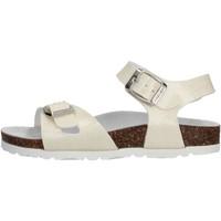 Schuhe Mädchen Sandalen / Sandaletten Gold Star - Sandalo da Bambino Bianco in Pelle 1846BR BIA