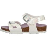 Schuhe Mädchen Sandalen / Sandaletten Birkenstock - Rio metallic bianco 1008197