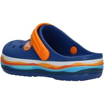 Schuhe Jungen Pantoletten / Clogs Crocs - Crocband wavy azz/arancio 205697 BLU