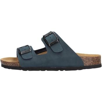 Schuhe Jungen Pantoffel Gold Star Goldstar 1800 ciabatta blu in micropelle da bambino BLU