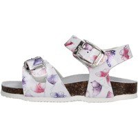 Schuhe Mädchen Sandalen / Sandaletten Gold Star Goldstar 8852I sandali bianchi in micropelle da bambino BIANCO
