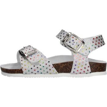 Schuhe Mädchen Sandalen / Sandaletten Gold Star Goldstar 8852W sandali argento in micropelle da bambino ARGENTO