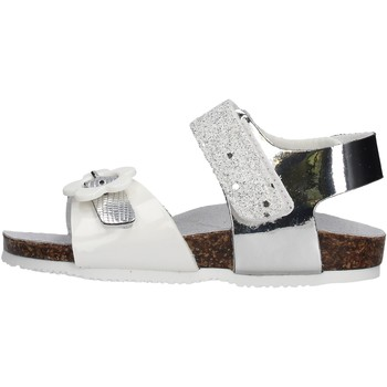 Schuhe Mädchen Sandalen / Sandaletten Gold Star Goldstar 8852F sandali argento in micropelle da bambino ARGENTO