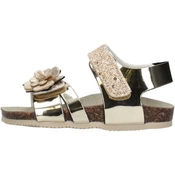 Schuhe Mädchen Sandalen / Sandaletten Gold Star Goldstar 8864X sandali platino in micropelle da bambino PLATINO