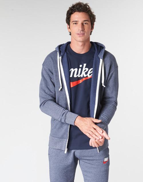 Kleidung Herren Sweatshirts Nike M NSW HERITAGE HOODIE FZ Marine