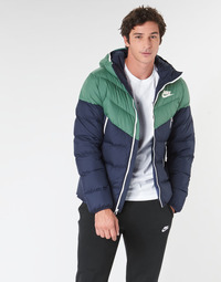 Kleidung Herren Daunenjacken Nike M NSW DWN FILL WR JKT HD Marine / Grün