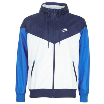 Kleidung Herren Windjacken Nike M NSW HE WR JKT HD Blau / Weiss