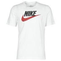 Kleidung Herren T-Shirts Nike M NSW TEE ICON FUTURA Weiss