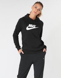Kleidung Damen Sweatshirts Nike W NSW ESSNTL HOODIE PO  HBR Schwarz