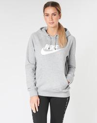 Kleidung Damen Sweatshirts Nike W NSW ESSNTL HOODIE PO  HBR Grau