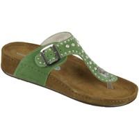 Schuhe Damen Sandalen / Sandaletten Wolkenwerk Pantoletten Edith 10224-600 Velour 10224-600 grün