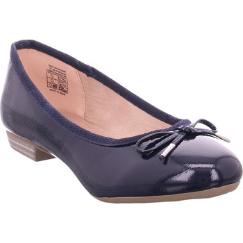Schuhe Damen Ballerinas Idana Ballerina glatt und sportlich NAVY 835