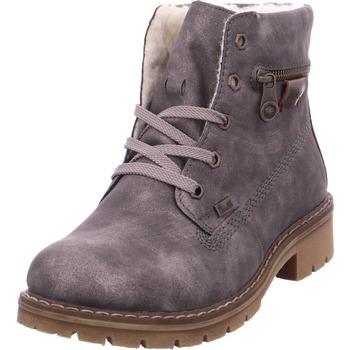 Schuhe Damen Schneestiefel Rieker - Y9112-46 antracite/kastanie 46