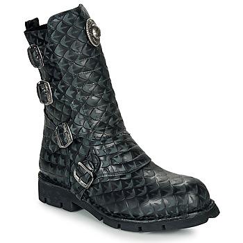 Schuhe Boots New Rock  Schwarz