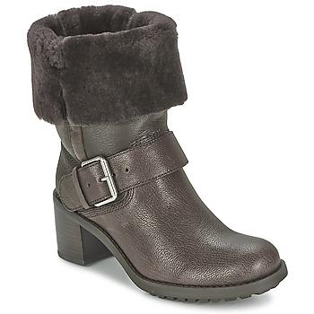 Schuhe Damen Boots Clarks PILICO PLACE Braun