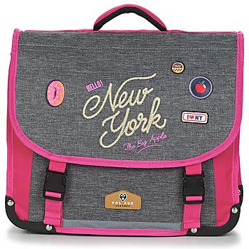 Taschen Mädchen Schultasche Rentrée des classes POL FOX NEW YORK CARTABLE 38 CM Grau / Rose