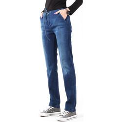 Kleidung Damen Röhrenjeans Wrangler Jeanshose  Slouchy Cosy Blue W27CGM82G dunkelblau