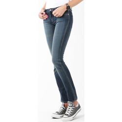 Kleidung Damen Röhrenjeans Wrangler Jeanshose  Courtney Storm Break W23SP536V dunkelblau
