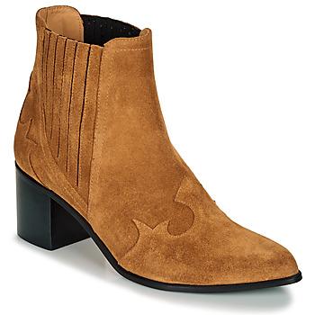 Schuhe Damen Low Boots Emma Go BROOKLYN Cognac