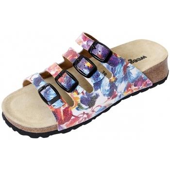 Schuhe Damen Pantoletten / Clogs Weeger Keilpantolette 11460-91 Blume