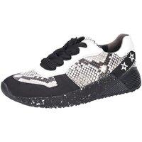 Schuhe Damen Sneaker Low Paul Green Schnuerschuhe S.Nubuk/Mamba black/pebble 4832-015 schwarz