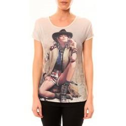 Kleidung Damen T-Shirts By La Vitrine Top Cowboy 1103 Beige Beige