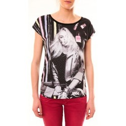Kleidung Damen T-Shirts By La Vitrine Top Clara 1104 Noir Schwarz