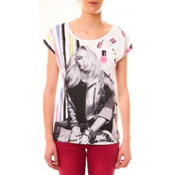 Kleidung Damen T-Shirts By La Vitrine Top Clara 1104 Blanc Weiss