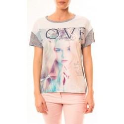 Kleidung Damen T-Shirts By La Vitrine Top Love B002 Gris Grau