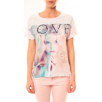 Kleidung Damen T-Shirts By La Vitrine Top Love B002 Rose Rose