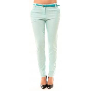 Kleidung Damen 5-Pocket-Hosen Dress Code Pantalon Luizaco L705 Vert Grün