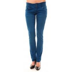 Kleidung Damen Straight Leg Jeans Dress Code Jeans Rremixx RX320 Bleu Blau