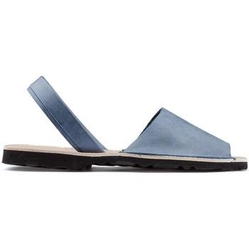 Schuhe Leinen-Pantoletten mit gefloch Arantxa Menorca Haut AZUL