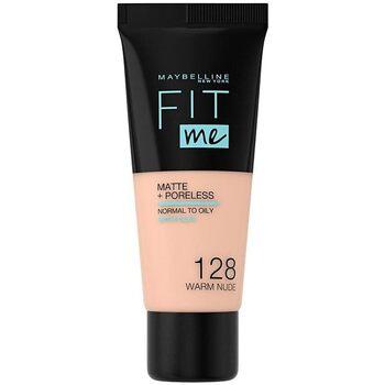 Maybelline Fit Me Matt+Poreless Flüssige Foundation 30 ml Nr. 128 - Warm Nude