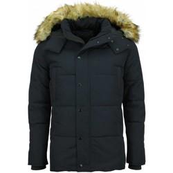 Kleidung Herren Daunenjacken Enos Winterjacke Kunstfelljacke Jacke Mit Pelzkragen Blau