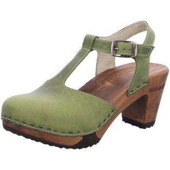 Schuhe Damen Sandalen / Sandaletten Woody Sandaletten Carolin 12554 grün
