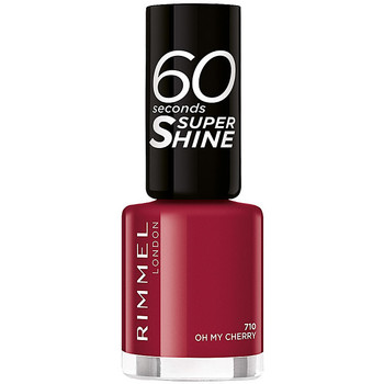 Beauty Damen Nagellack Rimmel London 60 Seconds Super Shine 710-oh My Cherry 8 ml