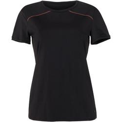 Kleidung Damen T-Shirts Lisca Energy  Wange kurzärmliges Sport T-Shirt schwarz Perlschwarz