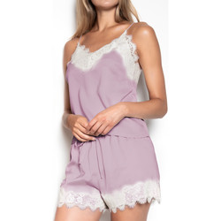 Kleidung Damen Pyjamas/ Nachthemden Admas Pyjama Weichkrepp violett Violett/orange