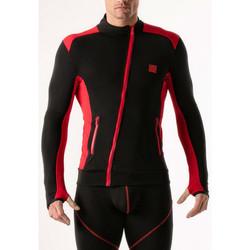 Kleidung Herren Sweatshirts Code 22 Kompressionsjacke Code22 Perlschwarz