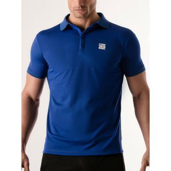 Kleidung Herren Polohemden Code 22 Lochblende Polohemd Code22 Blau