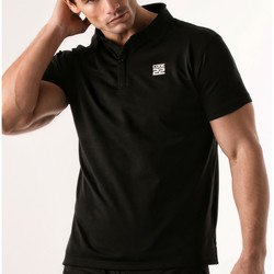 Kleidung Herren Polohemden Code 22 Lochblende Polohemd Code22 Perlschwarz