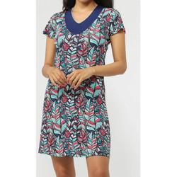 Kleidung Damen Kurze Kleider Admas Strandkleid Plumas Blau