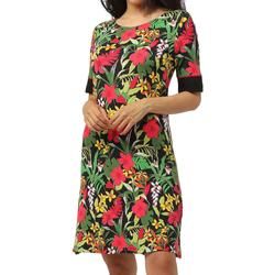 Kleidung Damen Kurze Kleider Admas Strandkleid mit halben Ärmeln Hawaii Grün