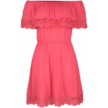 Kleidung Damen Kurze Kleider Lascana Strandkleid aus Stechpalme -Koralle Jeansstoff